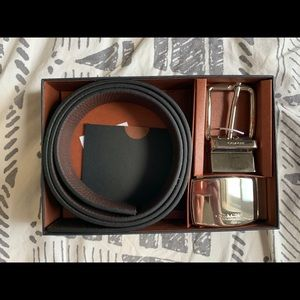 All leather Coach Reversible Belt w/Original Box